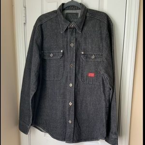 Vintage Guess black washed shirt jacket